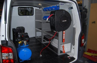 VQuip - Transforming Van Vehicles | Service Van - Compressor